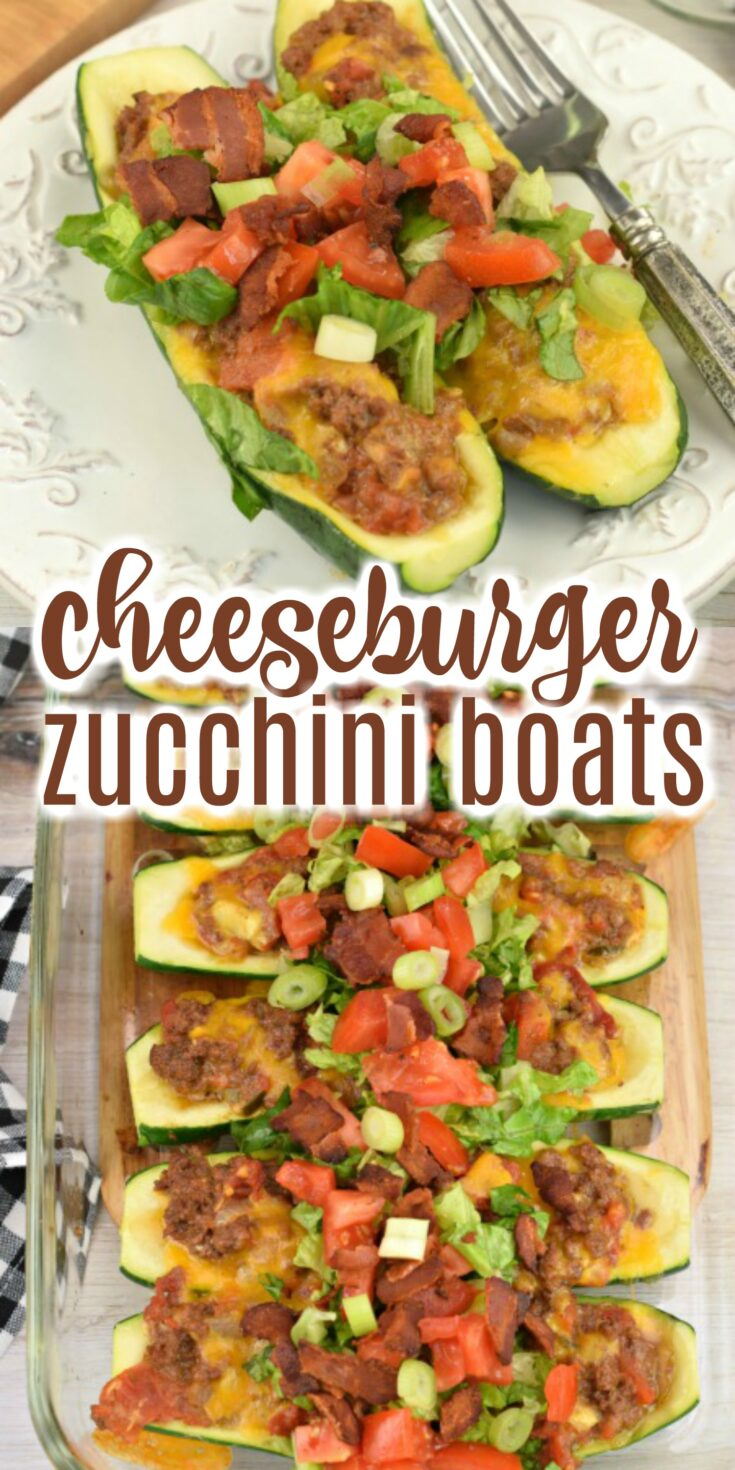 Bacon Cheeseburger Stuffed Zucchini boats are filling, delicious, and the perfect addition to your weeknight dinner menu!