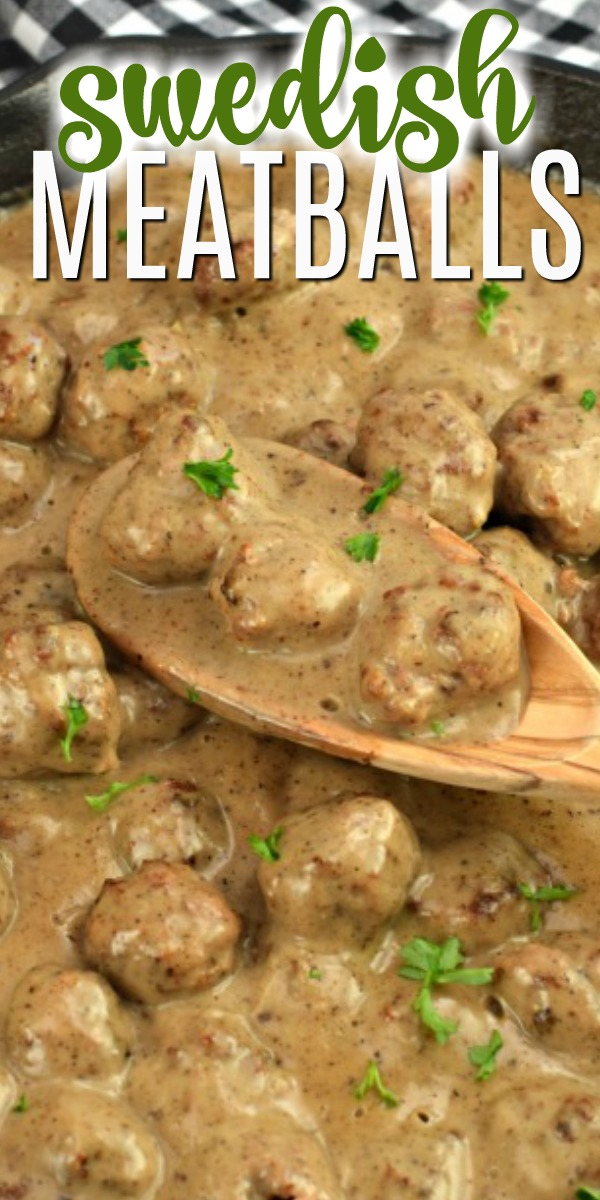 Flavor packed Swedish Meatballs in a rich, cream gravy. This family friendly meal is as easy as it is delicious!