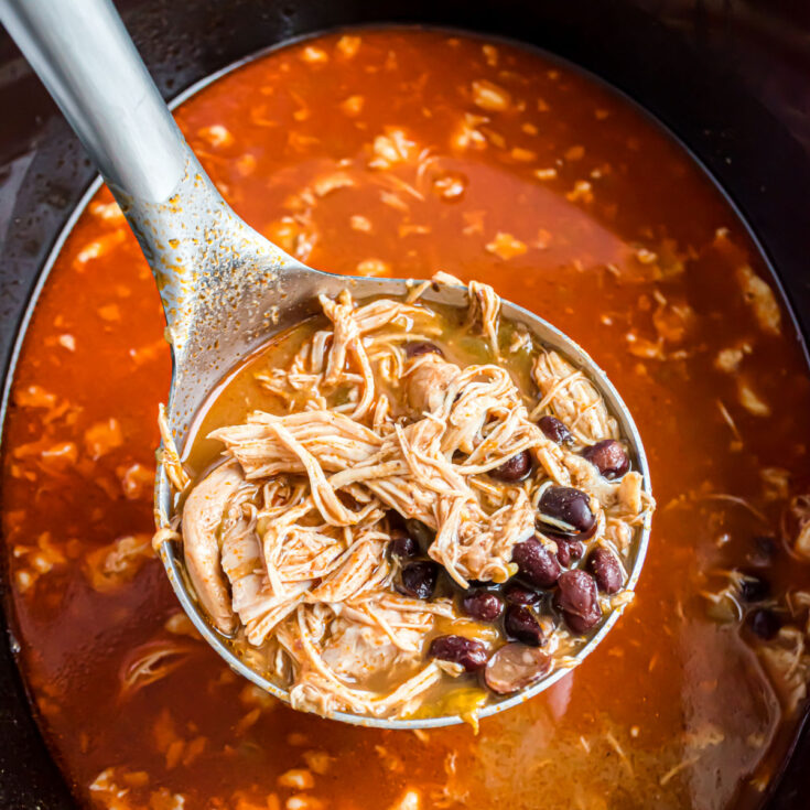 The spicy enchilada flavor you crave is transformed into a nourishing bowl of soup! Make this quick and easy sugar free Chicken Enchilada Soup recipe in the Instant Pot, slow cooker or on the stove top. Don't forget all your favorite enchilada toppings!