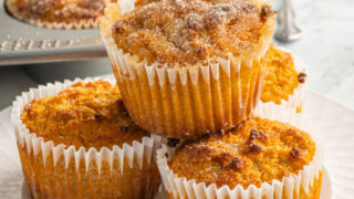 These are the best gluten free Pumpkin Muffins ever! Made with real pumpkin and fall spices, this keto muffin recipe will have you ready for sweater weather.